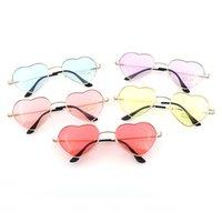 рамки для очков оптовых-Солнцезащитные очки Kaleidoscope Glasses Heart Reflective Солнцезащитные очки женские очки Sun Shaped Love Модные женские солнцезащитные очки Металлические оправы