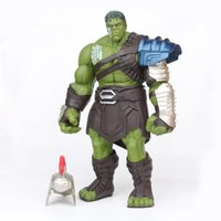 gran figura de hulk al por mayor-35 cm Tamaño Grande Avengers Marvel Thor 3 Ragnarok Manos Movible Guerra Martillo Batalla Hacha Gladiador Hulk Bjd Figura de Acción Modelo Juguete Q190429