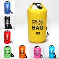 su geçirmez kamp depolama çantaları toptan satış-Yüzme Giysileri Için 9 Renkler Su Geçirmez Kuru Çanta Dayanıklı Su Geçirmez Saklama Torbaları Seyahat Bagaj Kamp Yürüyüş Botla Balıkçılık M245Y Için