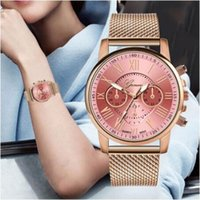 ingrosso ragazze di vigilanza del quarzo di geneva-Cinghia di vendita calde all'ingrosso donne GINEVRA casuale del quarzo del silicone braccialetto di vigilanza Top ragazze di marca dell'orologio dell'orologio donne Relogio Feminino