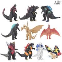 juegos de juguetes godzilla al por mayor-DHL 10 PC fijó Godzilla Figuras de acción monstruos dinosaurio de segunda generación figuras de PVC 3-6cm niños juguete niños