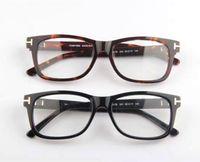 big framed glasses retro großhandel-Männer Optische Gläser Rahmen Tom 5146 Marke Designer Plank Big Frame Brillen Rahmen für Frauen Retro Myopie Brillen Rahmen mit Fall