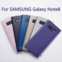 notiz zurück logo großhandel-OME für Samsung Galaxy Note8 Note 8 Rückseite Batterieabdeckung Hintertür Glasgehäuse + Aufkleber + Doppeltes LOGO N950 N950F