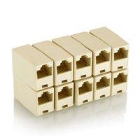 katze 5e lan kabel groihandel-RJ45-Koppler Ethernet Dual-Gerade Kopf Lan-Kabel-Schreiner-Koppler RJ45 CAT 5 5E 6 6a 7 Extender Stecker-Netz-Kabel-Anschluss