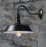 eski duvar lambası toptan satış-Vintage Endüstriyel Retro Yaş Basit Stil Ahır Retro Duvar Lambası Aplik Kapalı veya Açık Havada Işık 3