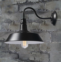 Vintage Idustrial Retro Age Simple Style Barn Wall Lamp Sconce Indoor Outdoors Light pulley B&B restaurant bar lighting corridor aisle light