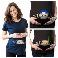 niedliche blusen für frauen großhandel-Neues Mutterschaftshemd spezialisiert für schwangere Frauen Cartoons süße lustige Baby Kurzarm Tops Grafik Bluse