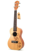 Wholesale 23 inch guitar resale online - inch ukulele small guitar spruce carving craft beginner entry instrument