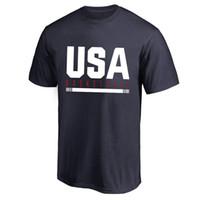 ekip bayrakları toptan satış-2019 ABD takımı basketbol Uygulama Bayrak T-Shirt