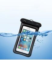 wasserdichte abdeckungen für mobiltelefone großhandel-Universeller transparenter Handy-wasserdichter Beutel PVC-Schwimmen-Handy-Schutzabdeckung Minimalistischer wasserdichter Telefonkasten