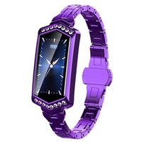 metal akıllı saatler toptan satış-B78 smart watch kadınlar ip67 su geçirmez nabız metal kayış spor bilezik android ios telefon için eşi hediye