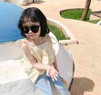 blouse blanche bébé achat en gros de-2020 nouvelles filles gros arc filles coton chemise d'été de la mode blouse 1-6t HO580