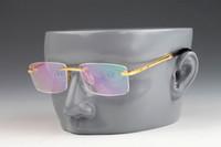 óculos de designer de titânio sem aro venda por atacado-Liga de titânio Rx designer de óculos retângulo sem aro armações de óculos homens óculos de marca eyeware flexível óptica Vintage