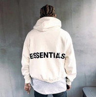 Wholesale long sleeves womens clothing for sale - Group buy ESSENTIALS Hooded Hoodies Mens Womens Fashion Brand Streetwear Pullover Sweatshirts Loose FOG Brand Hoodies Lovers Tops Clothing