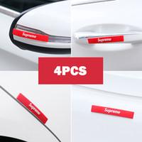 leimmarken großhandel-Auto-Dekor SUP Flut Marke Tür Anti-Kollisions-Streifenkörper reiben Streifen kratzfeste Rückspiegel Schutzstreifen