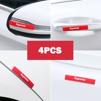 Wholesale decor words resale online - Car decor SUP tide brand door anti collision strip body rubbing strip scratch resistant rearview mirror protection strip