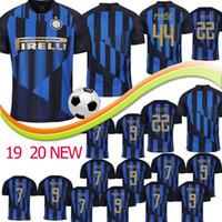 inter uniform großhandel-Thailand Inter Mailand Trikot ICARDI PERISIC NAINGGOLAN LAUTARO 19 20 Fußball Trikot 2019 2020 Uniformen Maglia da Calcio Top-Qualität