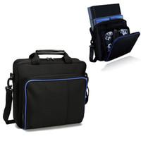 kunststoffbekleidung verpackung großhandel-Für PS4 / PS4 Pro Slim Game Sytem Bag Ursprüngliche Größe Für PlayStation 4 Console Protect Schulter-Tragetasche-Handtaschen-Segeltuch-Kasten
