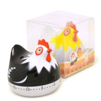 Wholesale alarm clock set for sale - Group buy Lovely Chicken Shape Kitchen Countdown Magnetic Timer Back Stand Cooking Timer Count UP Alarm Clock Kitchen Gadgets Cooking Tools gift