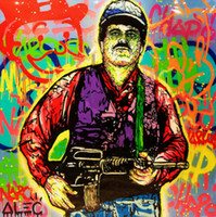 Wholesale art painting resale online - Alec Monopoly Graffiti art Narcos Pablo Escobar Wall Art Home Decor Handcrafts HD Print Oil Painting On Canvas Picture