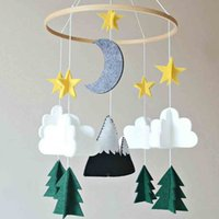 Wholesale nursery cribs for sale - Group buy Home decoration Nordic children tent decoration Boys Girls Baby Crib Mobile Woodland Night Nursery Mobile Decoration