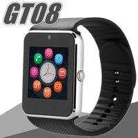 sim-карта поддерживается мобильным телефоном оптовых-Smart Watch GT08 Bluetooth Smart Watch android smartwatch SIM интеллектуальный мобильный телефон поддержка TF Sim - карты камеры