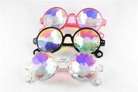 Wholesale kaleidoscopes for children for sale - Group buy 2019 Hot Round Kaleidoscope Sunglasses Crystal Psychedelic Glasses Styles Retro Mosaic Eyewear For Kids Children Men Women Styles M320F