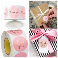 Wholesale birthday giveaways resale online - Pink Thank You Stickers Pink Stickers for Company Giveaway Birthday Party Favors Labels Mailing Supplies Office Label in