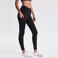 Wholesale tight black yoga pants resale online - Classical Versions Soft Naked Feel Athletic Fitness Leggings Women Stretchy High Waist Gym Sport Tights Yoga Pants
