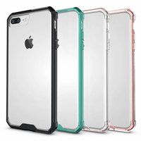 Wholesale iphone6 transparent case online - Simple and popular Apple mobile phone case for iPhoneXS Max XR X Acrylic transparent drop protection cover for iPhone6 plus TPU PC case