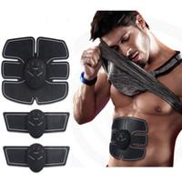 gewichtsverlust übungen großhandel-EMS Bauchmuskeltrainer Massage Stimulator Übung Slim Body Vibration Maschine Gewichtsverlust Smart Fitnessgeräte