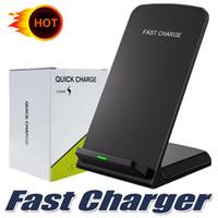 ingrosso migliori stand-Best seller per Iphone Xs Max Xr Fast Qi caricatore wireless caricatore del telefono pad per Samsung S8 note8 Qi smartphone abilitati