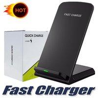 лучшее беспроводное зарядное устройство qi оптовых-Лучший продавец для Iphone Xs Max Xr Fast Qi Беспроводное зарядное устройство подставка для телефона зарядное устройство для смартфонов Samsung S8 note8 с поддержкой Qi
