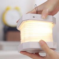 tarifas de radio al por mayor-Órgano Luz Bluetooth Audio Creativo Plegado Flip Página LED Luz de libro Atmósfera creativa Luz nocturna
