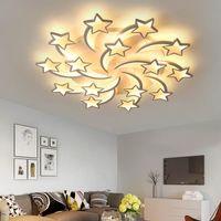 quarto modelo venda por atacado-Lâmpadas pingente LEDs Lustre Estrelas modernas Para Sala de estar Quarto controle remoto / APP suporte modelo de lustre de design Para Casa