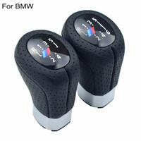 ingrosso manopole per il cambio manuale-Manuale in pelle 6 5 Velocità Sinistra Destra Cambio Pomello Pomello Testa Copristivale Stick Shifter ball Per BMW E87 E90 E92 X1
