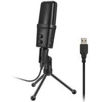 microfone laptop skype venda por atacado-TTKK SF-970 Microfone Com Fio USB Microfone Condensador de Gravação de Som com Suporte para Conversando Cantar Karaoke Laptop Skype