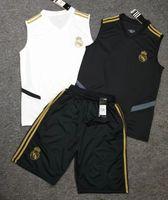 uv t shirts großhandel-2019 2020 Real Madrid Trainingsweste Anzug 19 20 T-Shirt HAZARD Shorts Trikot-Set RAMOS MODRIC ASENSIO ISCO Fußball Trikot-Set