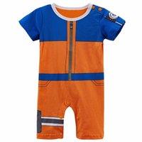 ingrosso costumi naruto uzumaki-Baby Boy Uzumaki Divertente Cute Infant Playsuit Naruto Costume Romper 24m. J190524