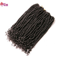 Wholesale cheap ombre braiding hair for sale - 18inch Ombre Goddess Fauxlocs Crochet Braids Hair strands pc Synthetic Braiding Hair Extensions Xiuyuanhair Cheap Price