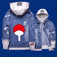 Wholesale naruto coat jacket for sale - New Naruto hoodie Anime Uchiha Sasuke Jeans Coat Men Women Fashion Jacket