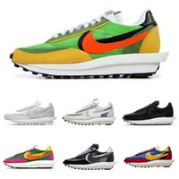летняя мужская обувь оптовых-Nike New Sacai 3.0 Pegasus SP LDV Waffle Black White Fashion Designer Mens Sneakers Summer Breathable Mesh 3 Bottom Sole Running Shoes BV0073