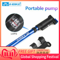 INBIKE Bike Pump Bicycle Tire Portable Inflator Air Pump Mountain Road Bike MTB Cycling Air Press Frame Accessories 16201