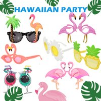 hawaiian sonnenbrille groihandel-Hawaiian Party Glasses Sunglasses Party Eyewear for Banquet Carnival Dancing Party Eyeglasses Funny Decorative 30pcs hot cny1444
