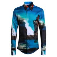 ingrosso figure di giada-Nuova camicia da uomo di figura dell'inchiostro di giada Ropa De Hombre 2018 Camicie da uomo, manica lunga, abbigliamento da uomo streetwear