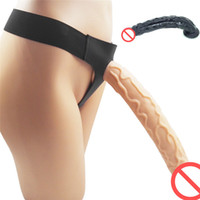 Wholesale lesbian straps for sale - Group buy Strapon Suction Cup Dildo With Harness For Lesbian Anal Sex Extreme Big Super Huge Long Penis Strap on Ultra Panties