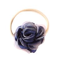 детские головные уборы продажа оптовых-baby headband Flower Headband Elastic Turban Wraps Baby Nylon Hairband bandeau fille opaska dla dziewczynki Hot sale #06