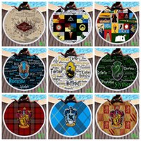plaj mat halı toptan satış-Harry Potter Plaj Havlusu Yaz Plaj Halı Goblen Battaniye Yuvarlak Banyo Havlusu Polyester Piknik Halıları Yoga Mat GGA1991
