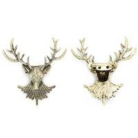 bronz giyim aksesuarları toptan satış-Avrupa Ve Amerikan Noel Süsleri Antik Bronz Elk Broş Moda Pop Giyim Broş Aksesuarları Iyi Görünümlü Tarzı