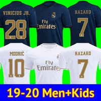camiseta de fútbol de camisas al por mayor-camisetas de fútbol real Madrid 19 20 PELIGRO JOVIC MILITAO soccer jersey 2019 2020 kids VINICIUS JR ASENSIO camiseta de fútbol niños MARCELO ISCO camisa de futebol
